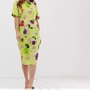 ASOS Yellow Midi Dress